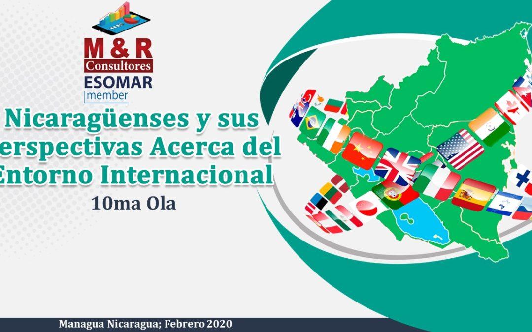 Nicaragüenses y sus Perspectivas Acerca del Entorno Internacional Febrero 2020